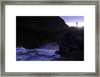 Getting The Shot Framed Print by Keith Lovejoy