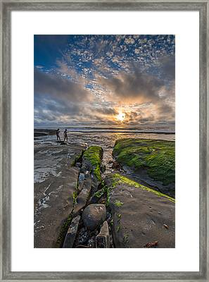 Getting Your Feet Wet Framed Print