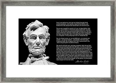 Gettysburg Address  1863 Framed Print by Daniel Hagerman