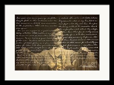 Historical Speech Framed Prints