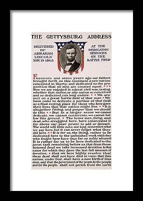 Gettysburg Address Framed Prints