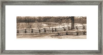 Gettysburg At Rest - We'll Be Home Before Dark - Phillip Synder Farm, Winter Framed Print