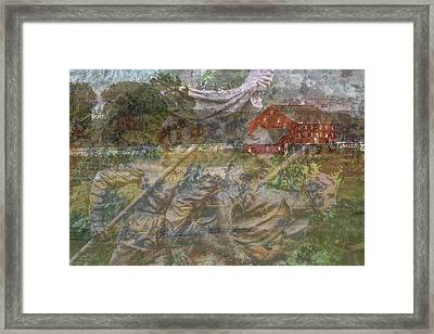 Gettysburg Back In Time Framed Print