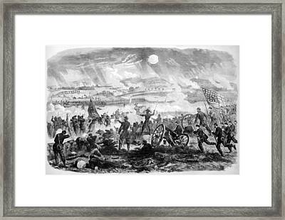 Gettysburg Battle Scene Framed Print by War Is Hell Store