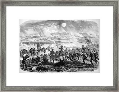 Gettysburg Battle Scene Framed Print