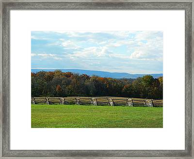Framed Print featuring the photograph Gettysburg Battlefield And Beyond by Emmy Marie Vickers