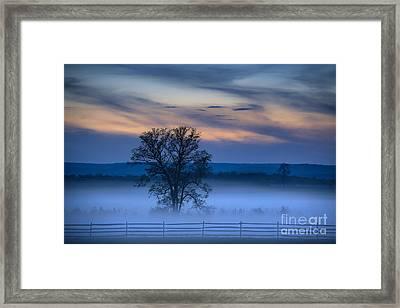 Gettysburg Blues Framed Print