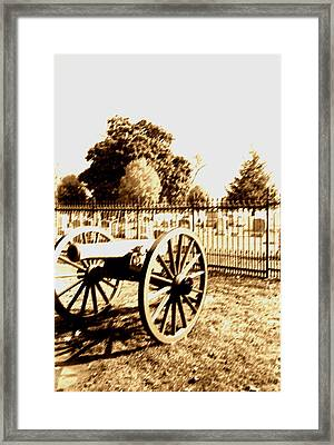 Gettysburg Cannon Framed Print by Utopia Concepts
