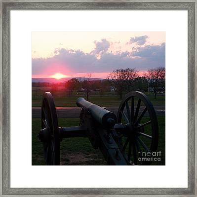 Gettysburg Cannon Framed Print by Eric  Schiabor