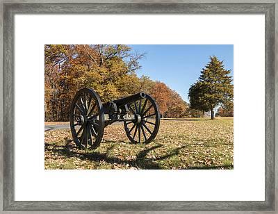 Gettysburg - Cannon In East Cavalry Battlefield Framed Print