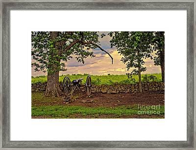 Gettysburg Cannon Framed Print by Madeline Ellis
