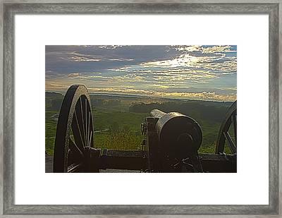 Gettysburg Canon Framed Print