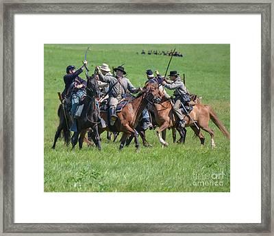Gettysburg Cavalry Battle 7948c  Framed Print