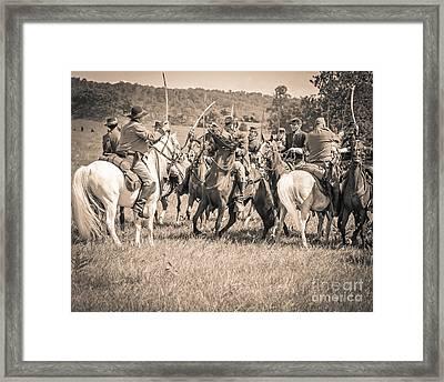 Gettysburg Cavalry Battle 7970s  Framed Print