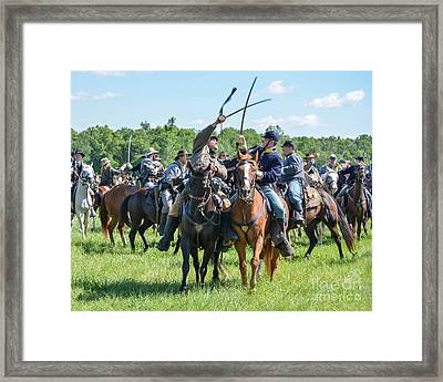 Gettysburg Cavalry Battle 7992c  Framed Print