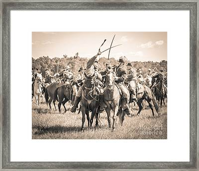 Gettysburg Cavalry Battle 7992s  Framed Print