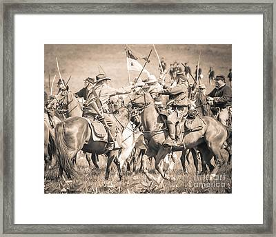 Gettysburg Cavalry Battle 8021s  Framed Print