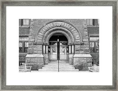 Gettysburg College Glatfelter Hall Entry Framed Print by University Icons