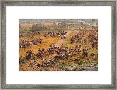 Gettysburg Cyclorama Detail Two Framed Print by Randy Steele