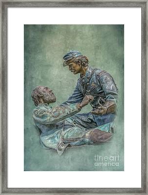 Gettysburg Friend To Friend Monument Framed Print