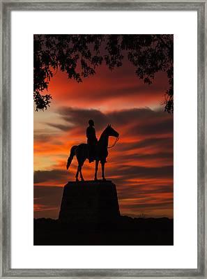 Gettysburg - Gen. Meade At First Light Framed Print