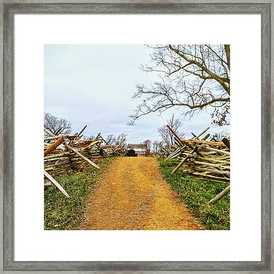 Gettysburg Horse Trail Framed Print by Paul Kercher