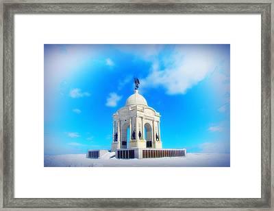 Gettysburg Memorial In Winter Framed Print by Bill Cannon