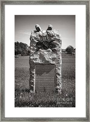 Gettysburg National Park 12th Illinois Cavalry Monument Framed Print