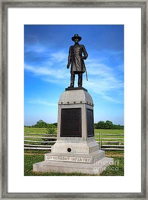 Gettysburg National Park 13th Vermont Infantry Memorial Framed Print
