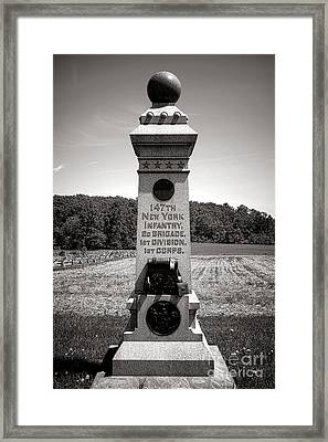 Gettysburg National Park 147th New York Infantry Monument Framed Print