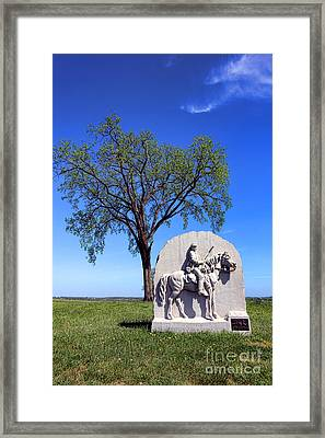 Gettysburg National Park 17th Pennsylvania Cavalry Memorial Framed Print by Olivier Le Queinec
