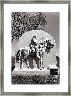 Gettysburg National Park 17th Pennsylvania Cavalry Monument Framed Print by Olivier Le Queinec