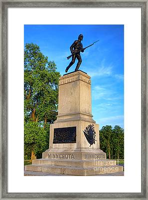 Gettysburg National Park 1st Minnesota Infantry Memorial Framed Print by Olivier Le Queinec