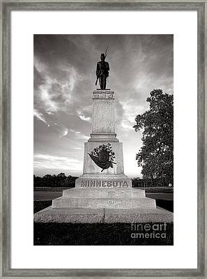 Gettysburg National Park 1st Minnesota Infantry Monument Framed Print by Olivier Le Queinec