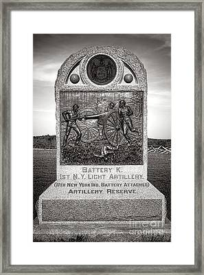 Gettysburg National Park 1st New York Light Artillery Monument Framed Print