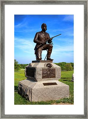Gettysburg National Park 1st Pennsylvania Cavalry Memorial Framed Print by Olivier Le Queinec
