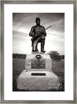 Gettysburg National Park 1st Pennsylvania Cavalry Monument Framed Print