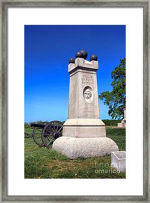 Gettysburg National Park 2nd Maine Battery Memorial Framed Print by Olivier Le Queinec