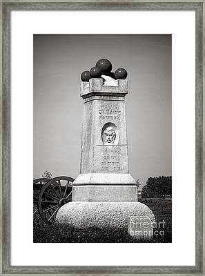 Gettysburg National Park 2nd Maine Battery Monument Framed Print by Olivier Le Queinec