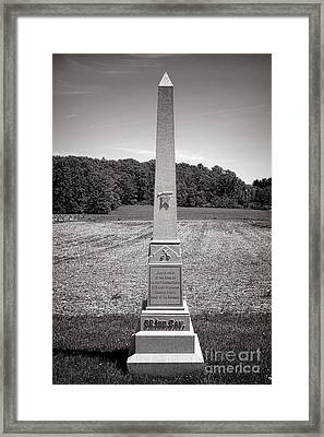 Gettysburg National Park 3rd Indiana Cavalry Monument Framed Print by Olivier Le Queinec