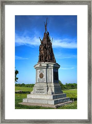 Gettysburg National Park 42nd New York Infantry Memorial Framed Print by Olivier Le Queinec