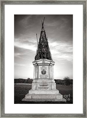 Gettysburg National Park 42nd New York Infantry Monument Framed Print by Olivier Le Queinec