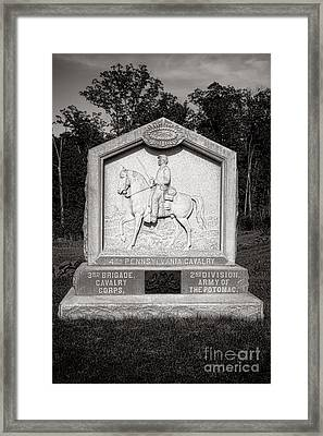 Gettysburg National Park 4th Pennsylvania Cavalry Monument Framed Print by Olivier Le Queinec