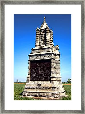 Gettysburg National Park 6th New York Cavalry Memorial Framed Print by Olivier Le Queinec