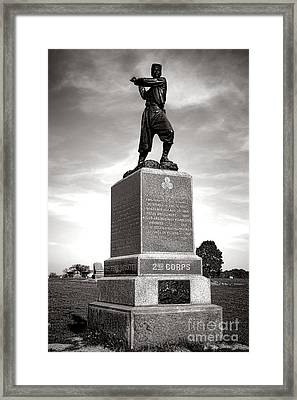 Gettysburg National Park 72nd Pennsylvania Infantry Monument Framed Print
