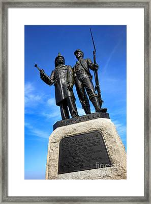 Gettysburg National Park 73rd Ny Infantry Second Fire Zouaves Memorial Framed Print by Olivier Le Queinec