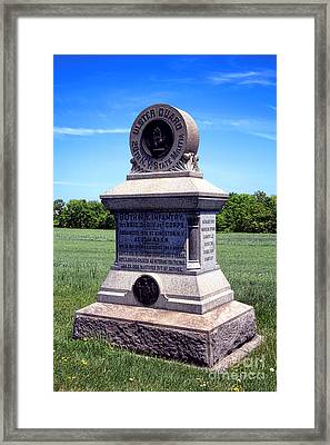 Gettysburg National Park 80th Ny Infantry Militia Memorial Framed Print by Olivier Le Queinec