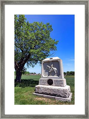 Gettysburg National Park 8th New York Cavalry Memorial Framed Print by Olivier Le Queinec