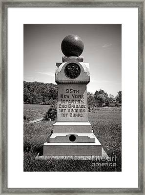 Gettysburg National Park 95th New York Infantry Monument Framed Print by Olivier Le Queinec