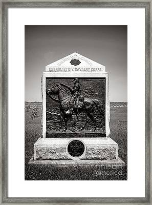 Gettysburg National Park 9th New York Cavalry Monument Framed Print by Olivier Le Queinec